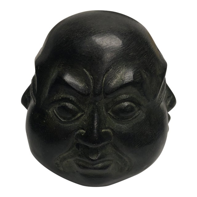 1980s Chinese Metal Oriental Four Face Buddha Figurine - Small For Sale