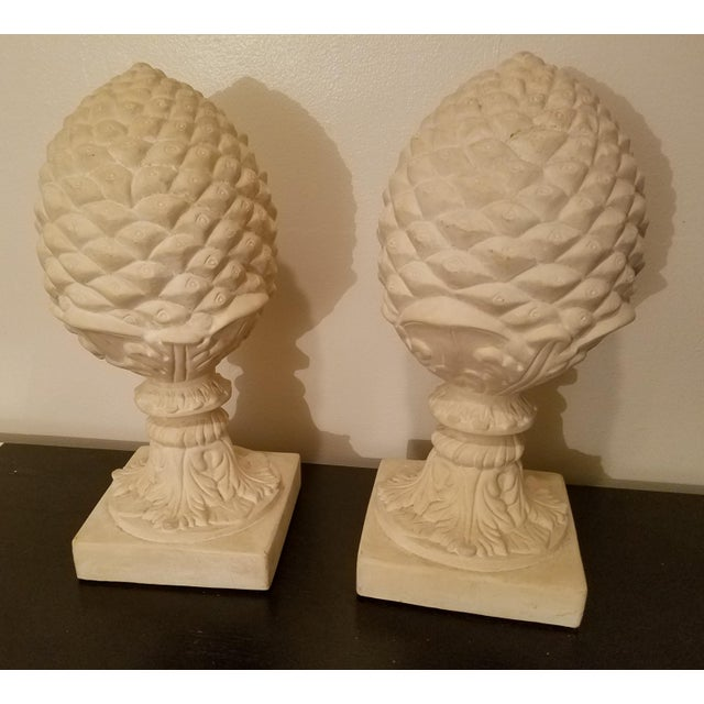 1980s 1980s Vintage Architectural Cast Pine Cones- A Pair For Sale - Image 5 of 5