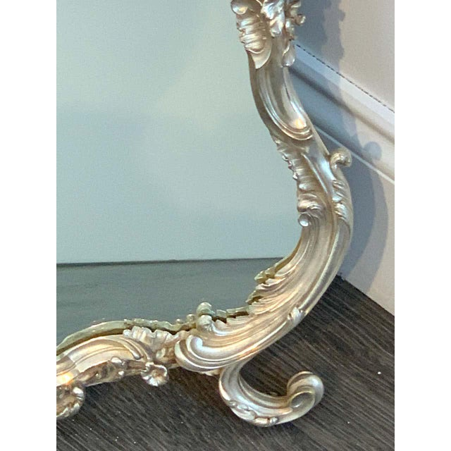 Late 19th Century French Silver Plated Dressing Mirror For Sale - Image 5 of 12