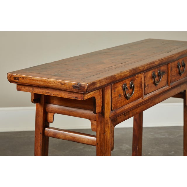 18th Century Antique Chinese Three Drawer Sideboard For Sale - Image 4 of 13