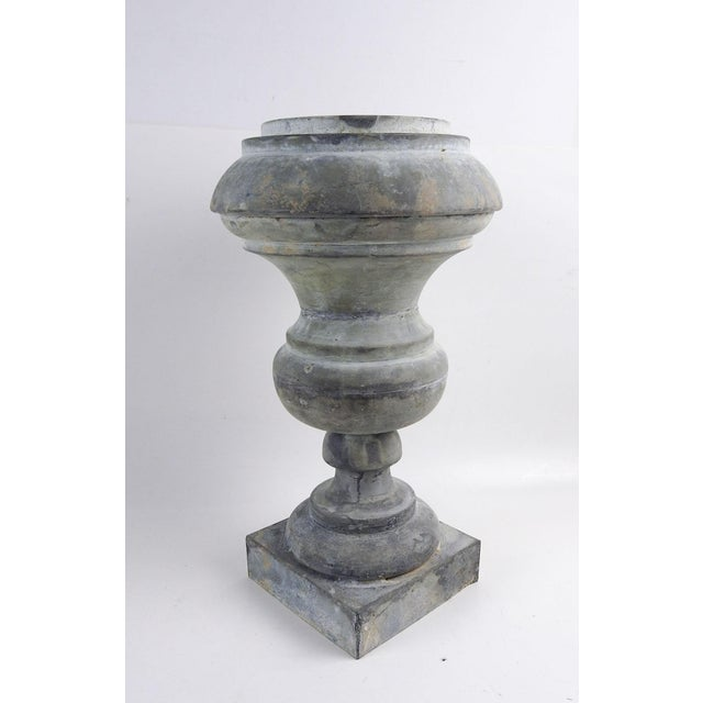 Antique Zinc Architectural Baluster Urn For Sale In San Antonio - Image 6 of 6