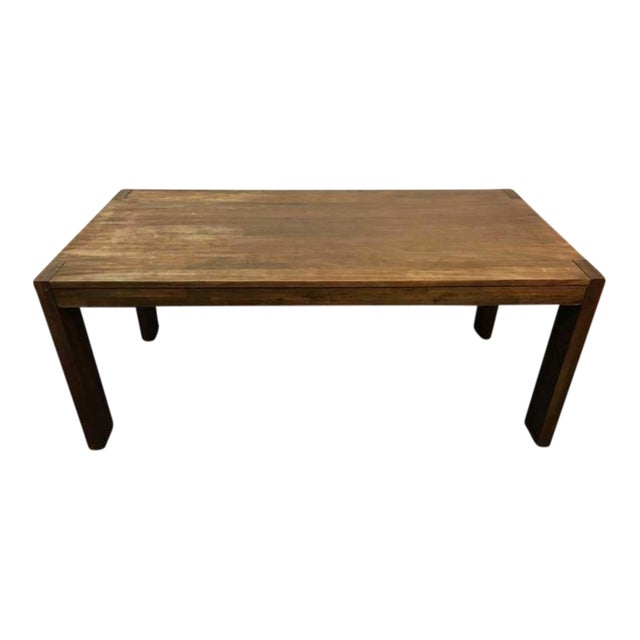 West Elm Contemporary Rustic Oak Dining Table - Image 1 of 7