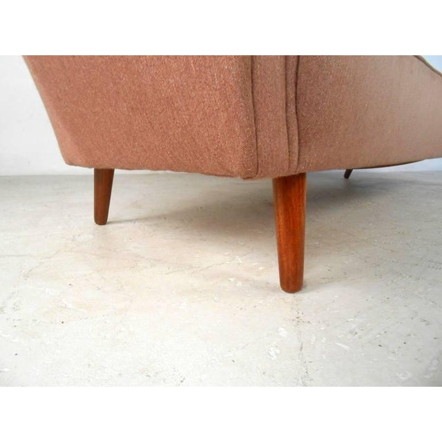 Fabric Mid-Century Modern Sofa in the Style of Kai Kristiansen For Sale - Image 7 of 11