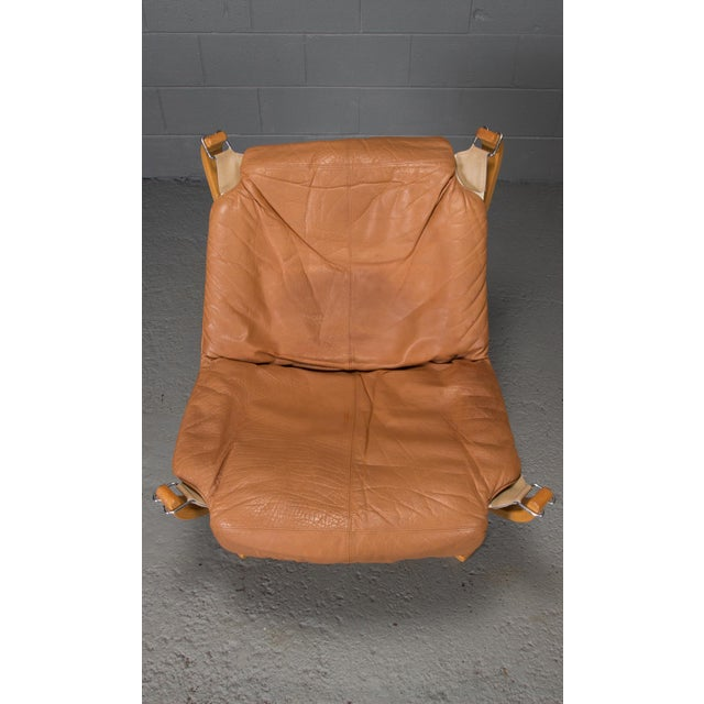 1970s Vintage Sigurd Ressell for Vatne Mobler Norwegian Low Back Falcon Sling Chairs- A Pair For Sale In Boston - Image 6 of 12
