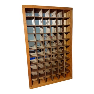 Vintage Rustic Wooden Wall Display Shelf For Sale