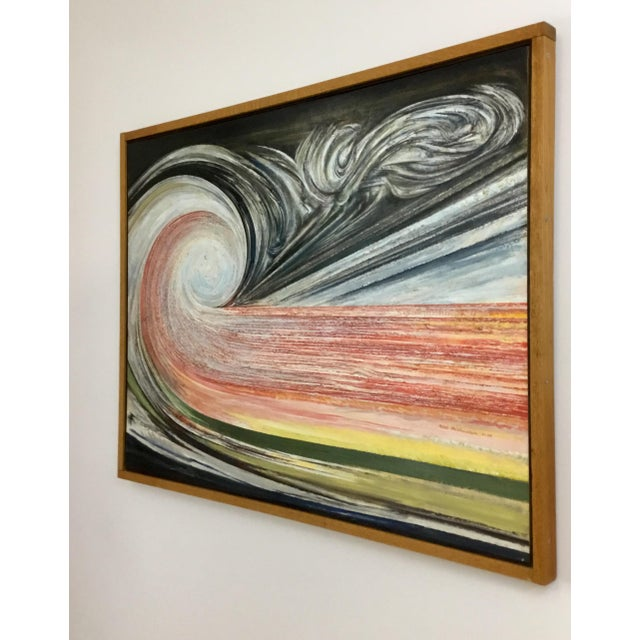 1990s Oil Painting by Niels Michaelsen For Sale In New York - Image 6 of 9