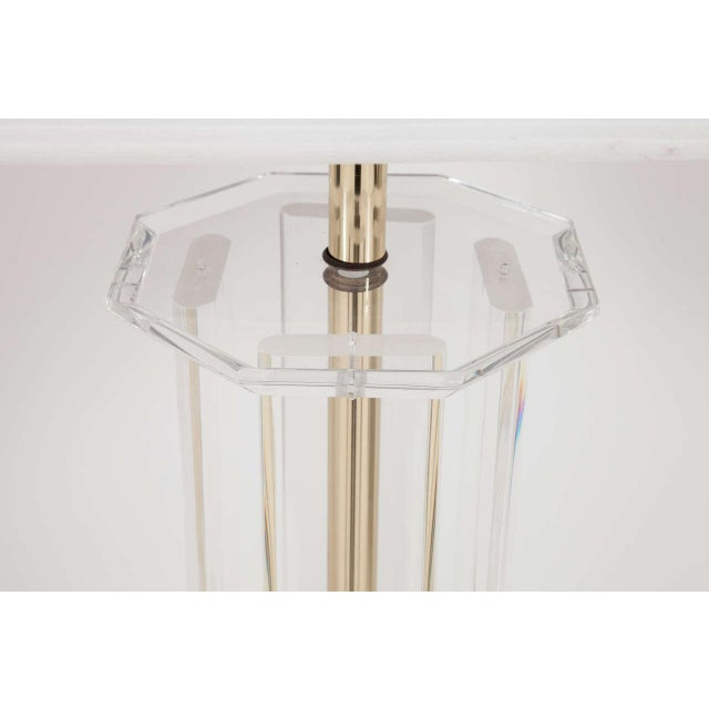 Mid 20th Century Lucite Floor Lamp For Sale - Image 5 of 6