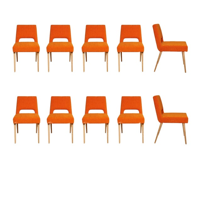 Customizable Set of 10 Bailey Dining Chairs For Sale