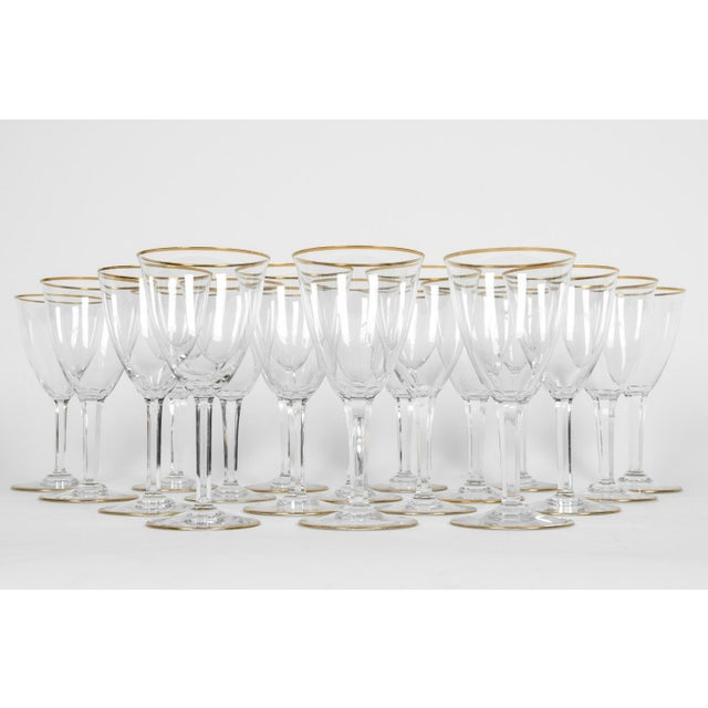Art Deco Vintage Baccarat Wine / Water Glassware - Service for 18 People For Sale - Image 3 of 13