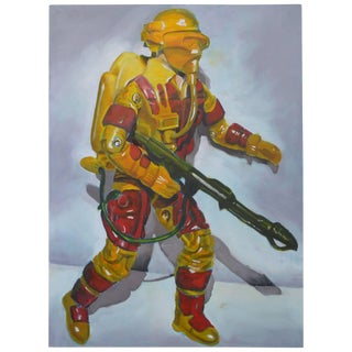 Oil on Canvas of a Toy Soldier For Sale