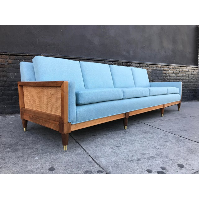 Vintage Mid Century Long Sofa For Sale - Image 13 of 13