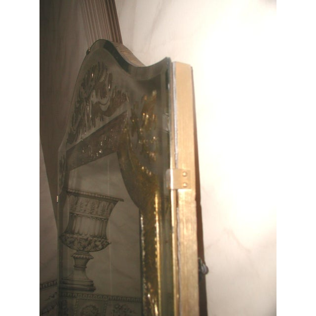Vintage 20th Century Beveled Foil Mirror For Sale - Image 6 of 8