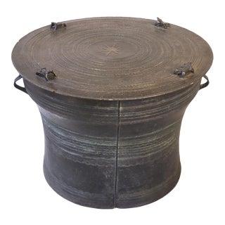Burmese Bronze Karen Frog Drum For Sale