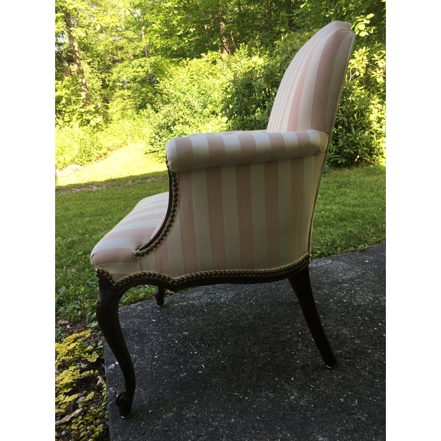 Late 20th Century Striped Perfection Chair For Sale - Image 9 of 13