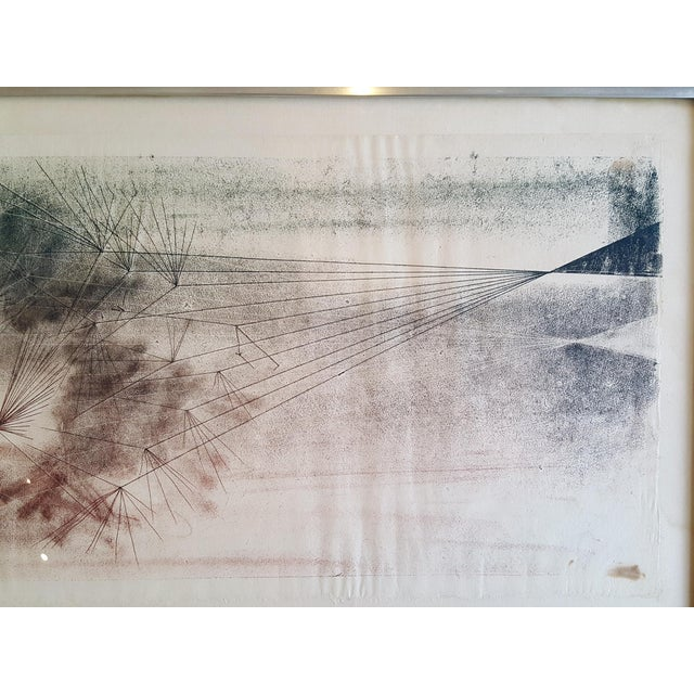 Early Harry Bertoia Monoprint Pencil Signed on Verso - Image 2 of 6