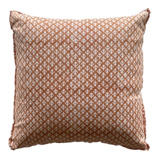 Hand Block-Printed Pillow For Sale