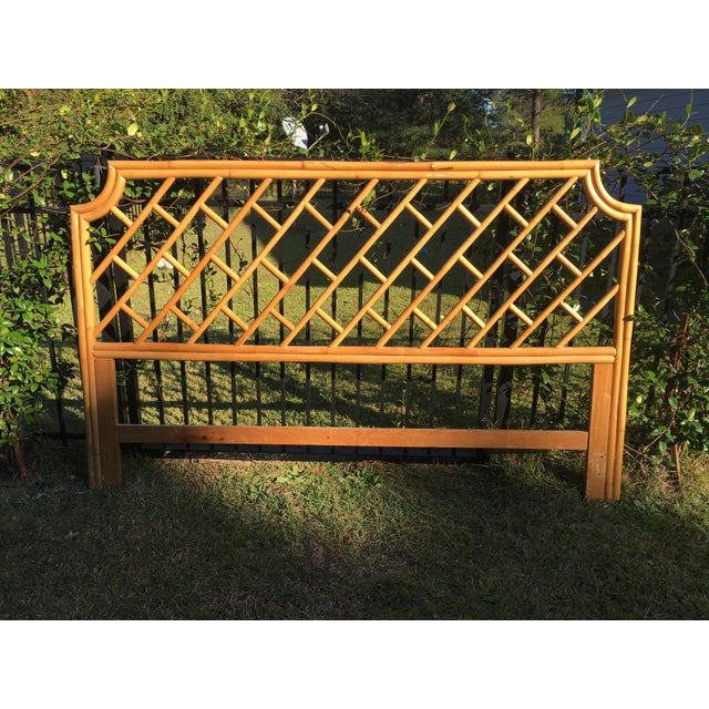 Bamboo Vintage Authentic Bamboo King Headboard For Sale - Image 7 of 7