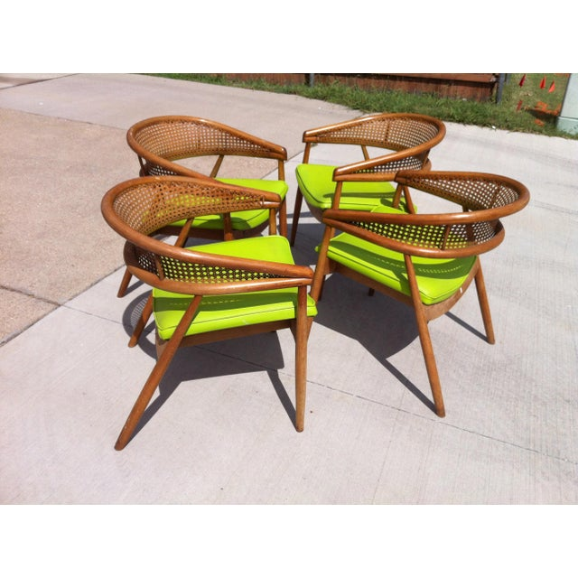 Thonet James Mont Bent Wood & Cane Armchairs - Set of 4 - Image 3 of 5
