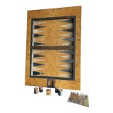 Image of Late 20th Century Tomasso Barbi Burl Wood Backgammon Game Table Top