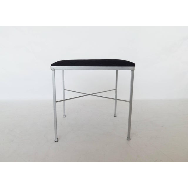 Eight X-Base Brass Stools by Thonet For Sale In Dallas - Image 6 of 9