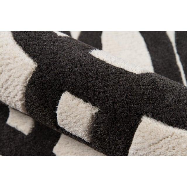 "2010s Contemporary Momeni Delhi Hand Tufted Black Wool Runner - 2'3"" X 8' For Sale - Image 5 of 7"