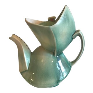 Contemporary Deborah Schwartzkopf Green Ceramic Teapot
