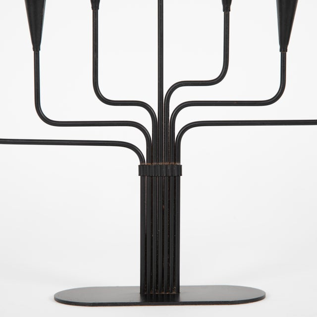Pair of Gunnar Andersen for Ystad-Metall Candelabrum Circa 1960s For Sale - Image 9 of 10