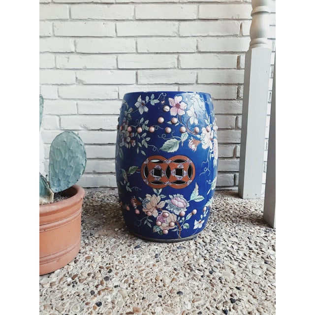 1950s Antique Hand Painted Garden Stool For Sale - Image 4 of 4