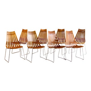 Scandia Dining Chairs by Hans Brattrud for Hove Mobler Teak, 1970s - Set of 8 For Sale