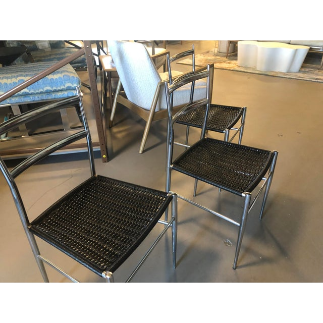 Gio Ponti Chrome Frame Leggera Chair For Sale - Image 9 of 9