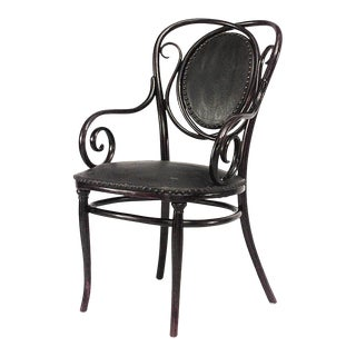 Bentwood Scroll Arm Chair For Sale