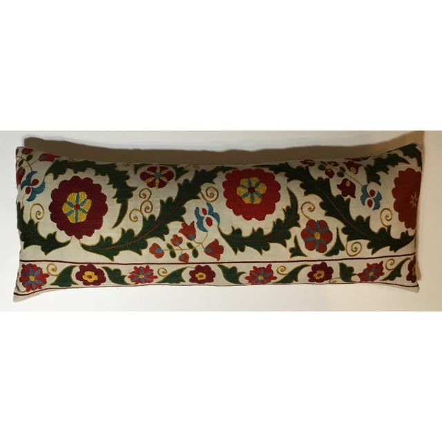 Hand Embroidery Vintage Suzani Pillow - Image 4 of 9