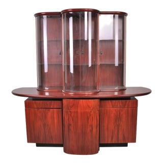 Postmodern Danish Skovby Møbelfabrik Rosewood Hutch or China Cabinet For Sale