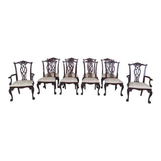 1990s Vintage Century Ball & Claw Mahogany Dining Room Chairs- Set of 10 For Sale