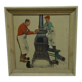 """The Apprentice"" Framed Norman Rockwell Print For Sale"