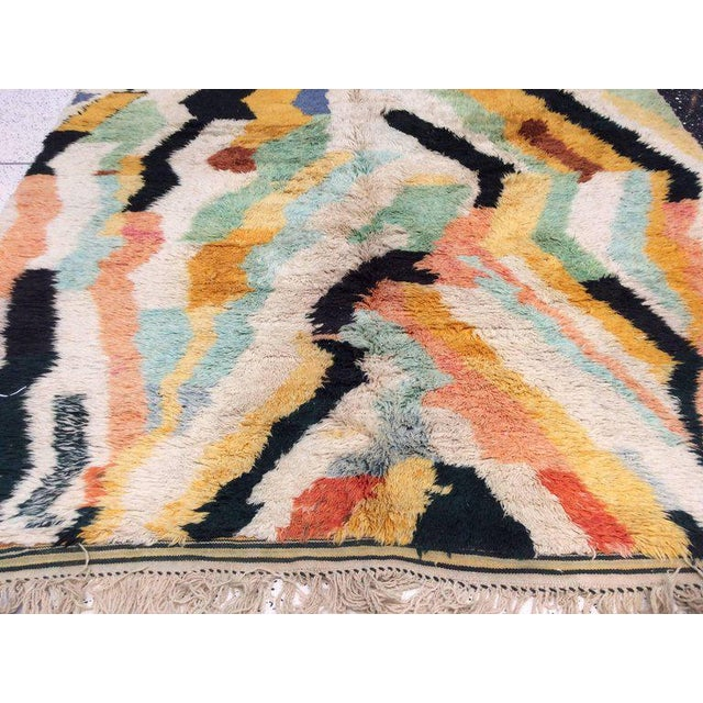 Multi-Color Moroccan Rug - 8′3″ × 11′5″ For Sale - Image 4 of 8