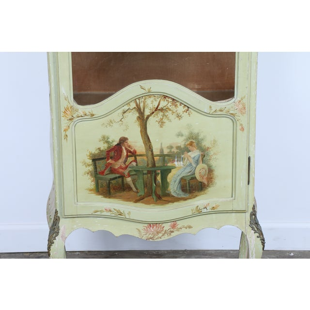 1920 French Style Hand Painted Cabinet - Image 3 of 11