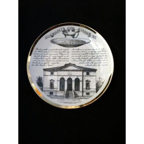 1960s Fornasetti Set of six Vintage Plates For Sale - Image 5 of 7