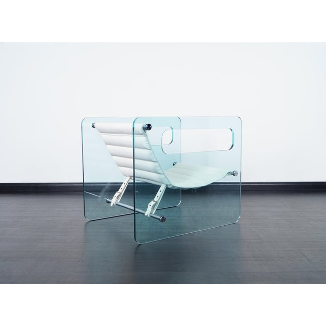 "Early 21st Century ""Naked"" Glass Lounge Chair by Giovanni Tommaso For Sale - Image 5 of 7"