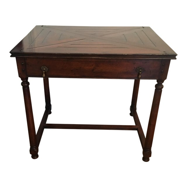 Traditional Wood Side Table For Sale