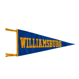 Vintage 1930s Williamsburg Felt Pennant For Sale