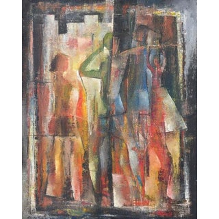 Stanley Bate, Three Images Painting, 1951 For Sale