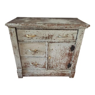 1950s Shabby Chic Wood Cupboard For Sale