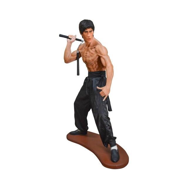 Bruce Lee Kung Fu Fighter Vintage Life Size Statue For Sale - Image 13 of 13