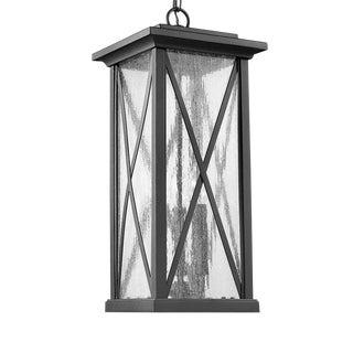 Morris 3 Light Outdoor Hanging, Black For Sale