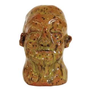 Glazed Studio Art Clay Bust