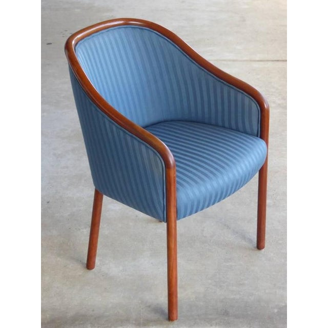 Walnut Banker Chairs by Ward Bennett for Brickel - Image 6 of 10