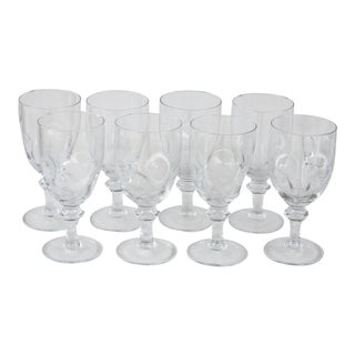 Italian Crystal Wine Goblets - Set of 8 For Sale