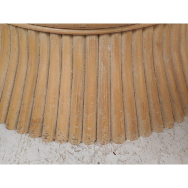 Vintage Modern McGuire Bamboo Wheat Sheaf Coffee Table For Sale - Image 9 of 11