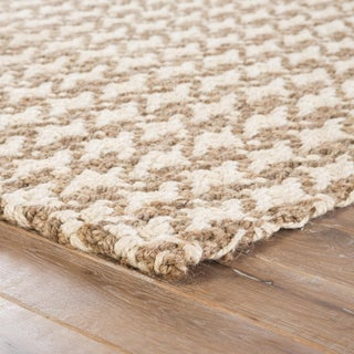 Jaipur Living Tracie Natural Geometric White/ Taupe Area Rug - 9′ × 12′ Preview